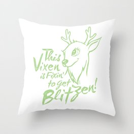 Vixen Fixin' in keylime distressed Throw Pillow