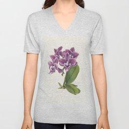Purple Phalaenopsis Orchid Unisex V-Neck