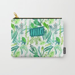 Tropical Leaves Watercolor Pattern Carry-All Pouch