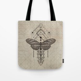 Sacred  Geometry  Zebra Longwing Butterfly Tote Bag