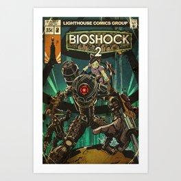BioShock 2: Vintage Comic Cover Art Print