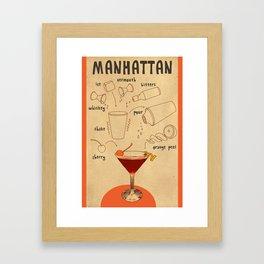 HOW TO: MANHATTAN  Framed Art Print