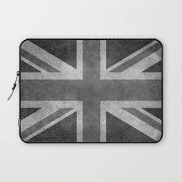 Union Jack Vintage 3:5 Version in grayscale Laptop Sleeve
