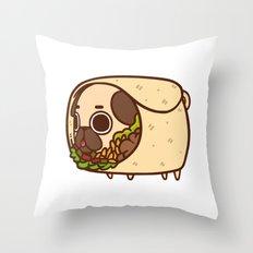 Puglie Burrito Throw Pillow