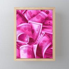 Pink Barbie Benjamins Framed Mini Art Print