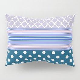 Abstract geometric pastel color chevron polka dots pattern Pillow Sham
