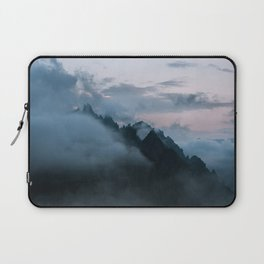 Dolomite Mountains Sunset covered in Clouds - Landscape Photography Laptop Sleeve