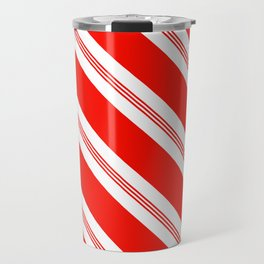 Candy Cane Stripes Holiday Pattern Travel Mug
