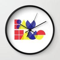 bauhaus Wall Clocks featuring Bauhaus by Romivavi
