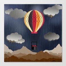 Balloon Aeronautics Rain Canvas Print