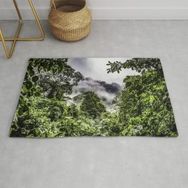 Clouds Blowing through the Mountains of the Chocoyero-El Brujo Nature Reserve in Nicaragua Rug