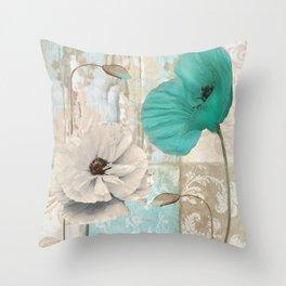 Beach Poppies III Throw Pillow