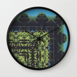 Trees and Powerlines Wall Clock