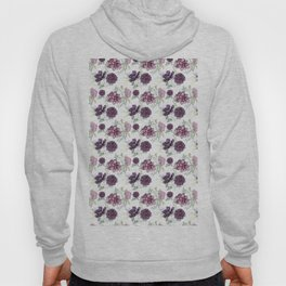 Succulents Deep Violet Lavender Pastel Green Lilac Pattern 2 Hoody