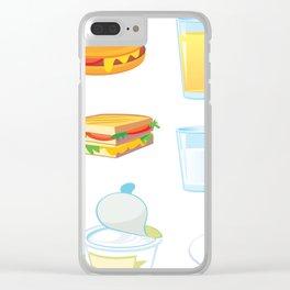 Breakfast Clear iPhone Case