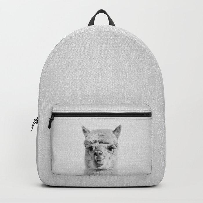 Alpaca - Black & White Backpack