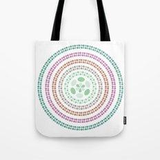 Retro floral circle 3 Tote Bag