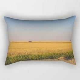 Harvest Near Garrison, ND 1 Rectangular Pillow