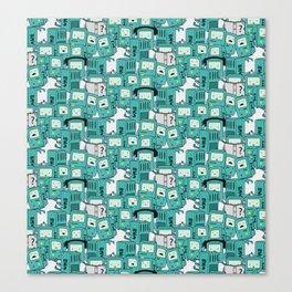 BMO patterns Canvas Print