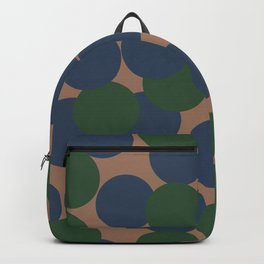 Green and Blue Dots on Salmon Backpack