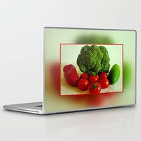 vegetables Laptop & iPad Skins featuring Fresh Vegetables by Art-Motiva