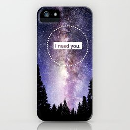 Bellamy and Clarke - I need you iPhone Case
