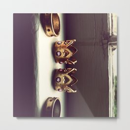 Rings on the Sill Metal Print