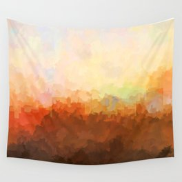 Chatanooga, Tennessee Skyline - In the Clouds Wall Tapestry