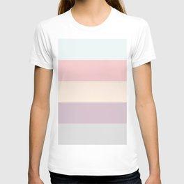 easter spring pastel color eggshell blue dusty rose blush pink stripe T-shirt