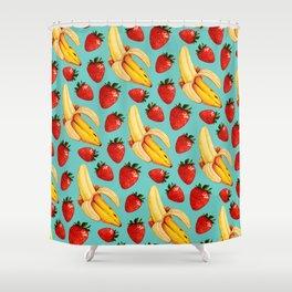 Strawberry Banana Pattern Shower Curtain