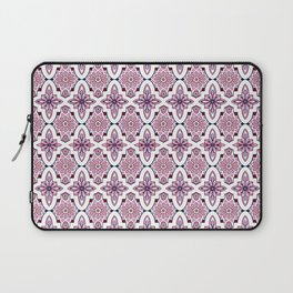 Lilac and burgundy flower Moroccan Tiles Laptop Sleeve