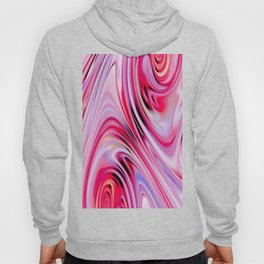Waves and swirls, abstract, decorative patterns, colorful piece no 18 Hoody
