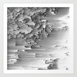 Japanese Glitch Art No.2 Art Print
