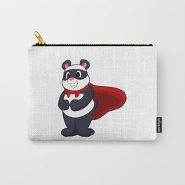 Panda as Hero with Mask & Cape Carry-All Pouch