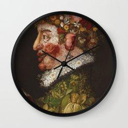 Giuseppe Arcimboldo  -  La Primavera Wall Clock