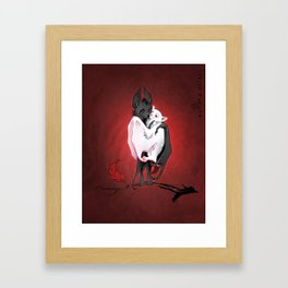 Bats in Love Framed Art Print