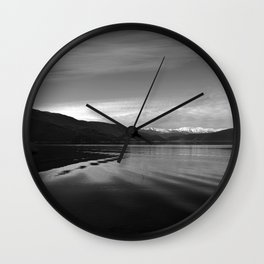 Lake Monochrome Silence I Wall Clock