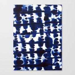 Parallel Indigo Canvas Print