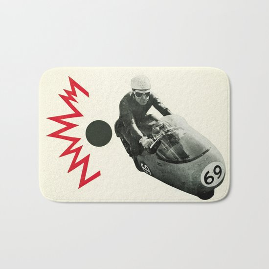 Motorcycle Madness Bath Mat