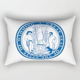Wyoming State Seal Rectangular Pillow