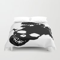 baloon Duvet Covers featuring Baby baloon skull by _Moj_