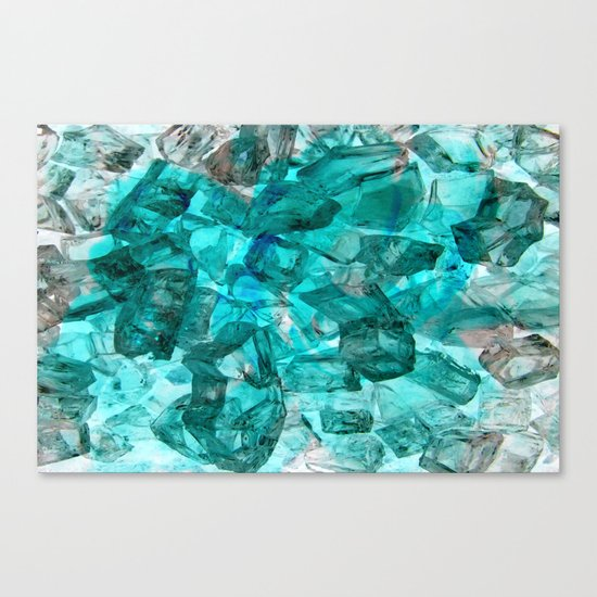 Turquoise Glass Chrystal Abstract Canvas Print