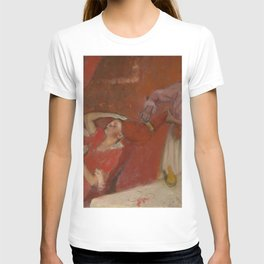 Combing the Hair by Edgar Degas T-shirt