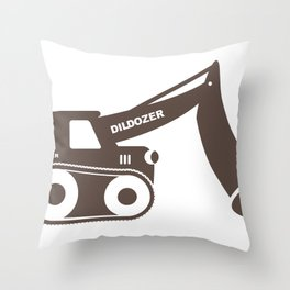 Dildozer Throw Pillow