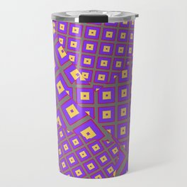 GREY PURPLE CREAM MODERN SQUARES ART Travel Mug