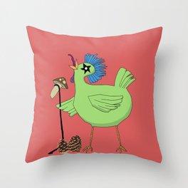 Chicken Estival Throw Pillow
