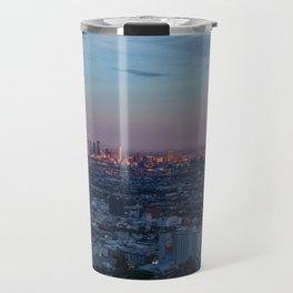 LA Skyline at Sunset Travel Mug