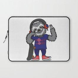 Skater Sloth Laptop Sleeve