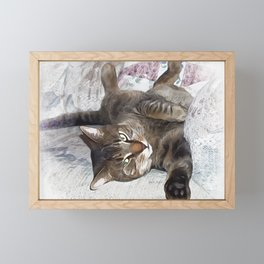 Mister Cat Framed Mini Art Print