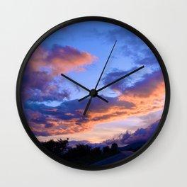 Evening Clouds Wall Clock